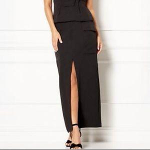 New York & Company Eva Mendes Black Maxi Skirt